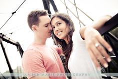 Engagement Pictures in the Strip District | Photographs on the Hot Metal Bridge | Engagement Sessions in Pittsburgh