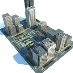 3D MODEL: https://www.turbosquid.com/3d-models/city-cityscape-3d-max/689438?referral=cermaka