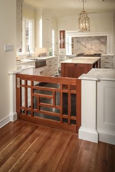 Learn how to accomodate your furry friends and design your home with your pets in mind. Pet friendly home design ideas from Dale's Remodeling in Salem, Oregon Best Baby Gates, Indoor Dog Gates, Sweet Home, Kitchen Photos, Kitchen Gallery, Cuisines Design, Home Living, My New Room, My Dream Home
