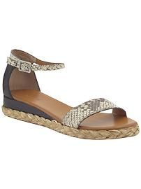 Love the mix of espadrille texture and of course the python  Women: Girl on a budget | Piperlime