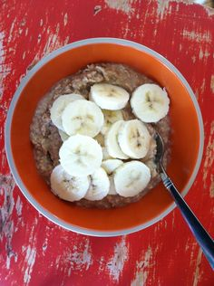 Peanut Butter Banana Oatmeal! 5 Weight Watcher Points Plus…..