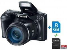"Câmera Digital SemiProfissional Canon SX400IS - 16.0MP LCD 3"" Zoom Óptico 30x + Cartão 32GB"