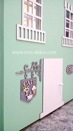 """Шкаф-домик """"Кафе"""" с подсветкой для детской комнаты."""