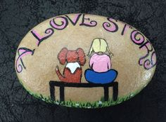 Painted rock Me & my only true love