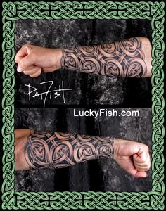 Celtic Sleeves, Tattoo Armor, and Full Knotwork Coverage Tattoos — LuckyFish, Inc. and Tattoo Santa Barbara