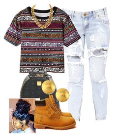 """""""[ Insert Title Here ]"""" by jaziscomplex ❤ liked on Polyvore featuring One Teaspoon, MCM, Timberland and Gurhan"""
