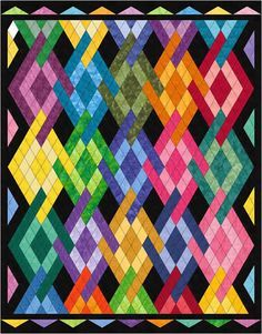 Peggy's Diamonds Quilt Pattern MGD-111 (intermediate, throw, lap)