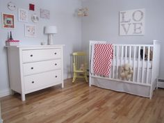 Modern #nursery for baby girl. #baby