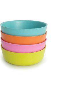 Biobu [by Ekobo] 20 oz Bambino Bowl Set in Gift Box, Lagoon/Mandarin/Rose/Lime ❤ Biobu [by Ekobo]