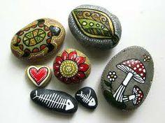 piedras pintadas letras - Buscar con Google