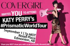 Enter to tickets to / and meet Katy Perry in Edmonton on September 1 at Rexall. Closes August 27.