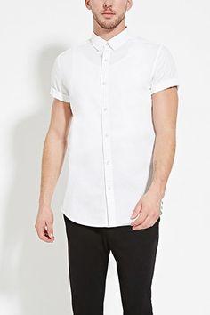 Side-Zip Cotton Shirt