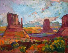 Monument Valley, four corners magnificent landscape oil painting by Erin Hanson
