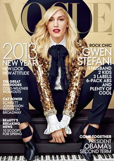 Gwen Stefani #magazine #cover #graphic #design #visual #impact #fashion #Vogue