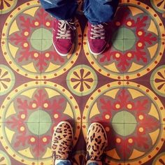 """""""Colors must fit together as pieces in a puzzle or cogs in a wheel."""" #ihavethisthingwithfloors #fromwhereistand #tileaddiction #amazingfloorsandwanderingfeet #floorsofinstagram #floors #tiles #colors #pattern #friday #tgif"""