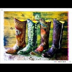 Rock and Roll Cowgirl Boots. -www.rivertrailmercantile.com