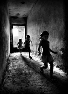 Running to School, Leipzig, East Germany, 1965, Leonard Freed