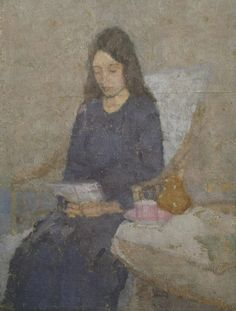 The Convalescent, Gwen John, 1918-9  from 35 portraits of women reading