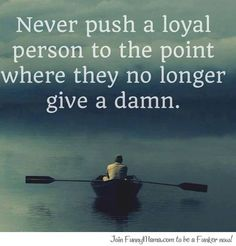 Loyal people...