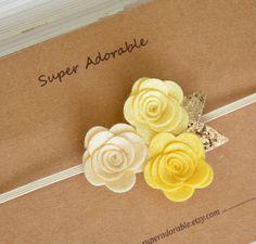 Fieltro flor diadema fieltro diadema bebé por SuperAdorable