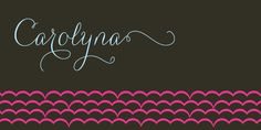 Carolyna - Webfont & Desktop font « MyFonts