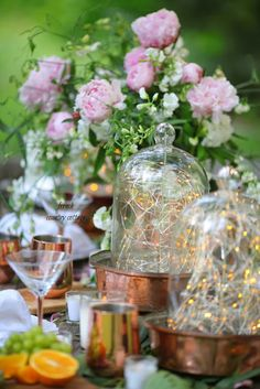 Tips for outdoor entertaining sprinkled with ambiance  - It's summer and that means lots of sunshine, hot days and warm evenings  and if you are like us- evenings out under the stars.  Love this for a summer table for entertaining friends on the veranda.