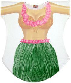 e33e9d35d854f Hula skirt cover up t-shirt Girls Cover Up