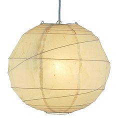 Orb Plug-In Pendant - Cream (Large)
