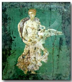 Roman Fresco -- Depicting Leda The Swan -- Recovered from Vesuvian Ash in Stabiae -- Century CE -- Belonging to the National Archaeological Museum -- Naples, Italy Ancient Pompeii, Pompeii And Herculaneum, Ancient Ruins, Ancient Art, Ancient History, Art History, History Images, Villa Romaine, Art Ancien