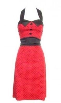 Polka dot wiggle pin up dress   Rockabilly bridesmaid idea