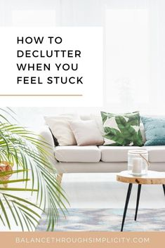 Although it feels like it should be easy, decluttering can be difficult for some. Getting rid of our stuff can be hard work, daunting and bring up mixed emotions that put us off. If you feel like this, check out this post on how to declutter when you feel stuck for 5 simple tips to make decluttering easier. #declutter #declutteringtips #declutteryourhome Declutter Your Home, Organizing Your Home, Organising Tips, Decluttering Ideas, Feeling Stuck, How Are You Feeling, Feeling Overwhelmed, Minimalist Living, Minimalist Lifestyle