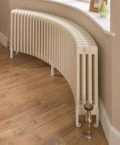 New radiators? Our new stylish and practical bespoke Ancona® Curved radiator. Made to fit your bay window and curved walls. Curved Radiators, Column Radiators, Heating Radiators, Diy Design, Interior Design, 1930s House Interior Ideas, 1930s House Interior Living Rooms, House Interiors, Bedroom Wall Designs