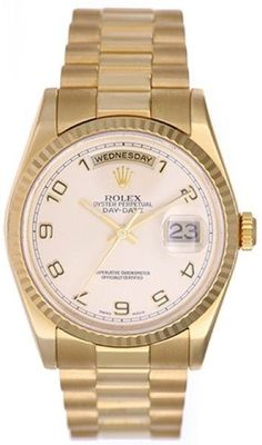 Rolex President Day-Date 118238 Champagne Dial 36mm Mens Watch