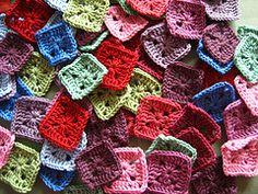 zigzag baby blanket pieces