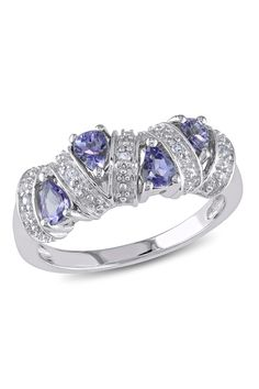Sterling Silver Tanzanite Station Ring | Sponsored by Nordstrom Rack.