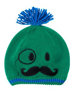 Accent your little guy s playful look with a cozy sweater cap featuring a  magician s face and 2909fa4a3f27