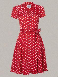 1940's fashion   Vintage Dress, 1940's Dress, Swing Dance Dress, Tea Dress, Short ...