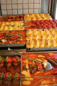 Turkish lokanta food - yummy!