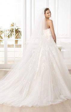 Marvelous A-line Floor-length Strapless Appliques Dress, Wedding Dresses Shop Online