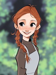 Anne from Anne of Green Gables Male Character, Fantasy Character, Anne Shirley, Cartoon Wallpaper, Disney Drawings, Cute Drawings, Anne Auf Green Gables, Art Couple, Gilbert And Anne