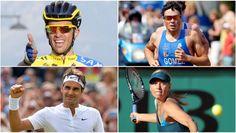 Con el comienzo de las Olimpiadas a la vuelta de la esquina y muchas ganas de ver a las grandes... Roger Federer, Lebron James, Baseball Cards, Sports, Yelena Isinbayeva, Tour De France, Athlete, Stars, Training