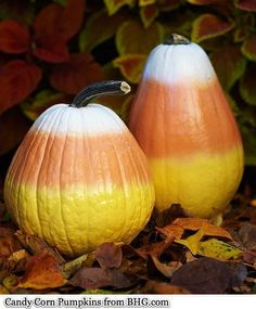 Decorate Pumpkins Without Carving, Love this CANDY CORN!