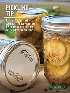 Homemade pickling recipes and tips