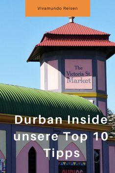 Durban eilt immer noch der Ruf voraus, eine gefährliche und eher ungemütliche Stadt zu sein. Spätestens seit der Fußball-WM 2010 hat sich dieses Bild jedoch grundsätzlich geändert. Lest unsere 10 besten Tipps für Euren nächsten Stopp in Durban! Durban, Südafrika, Südafrikareise, Südafrikatrip, Durban Inside, Vivamundo Reisen, Durban Städtetipp, Durban Reisetipps, Durban Südafrika Safari, Gazebo, Outdoor Structures, Marketing, Outdoor Decor, Cape Town, Travel Advice, Kiosk, Pavilion