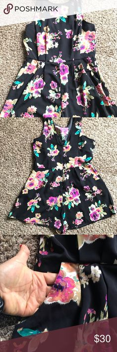 11b80d278f27 Floral swing romper In perfect condition!! Worn one time!! No rips or