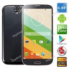"""MPIE I9200+ 6.44\"""" IPS FHD MTK6592 Octa-core Android 4.2.3 Phone 13MP CAM 2GB RAM 16GB ROM Wireless Display OTG P05-MPI92"""