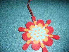 #TBC Craftes Week 9-Felt Snowflake Christmas Ornament