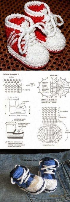 Lú cantinho do bordado e da cozinha: SAPATINHO DE CROCHÊ