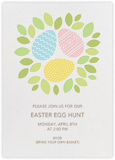 Petit Collage for Paperless Post  Easter Nest - Invitation