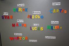 Mrs. Bremer's Kindergarten: name activities